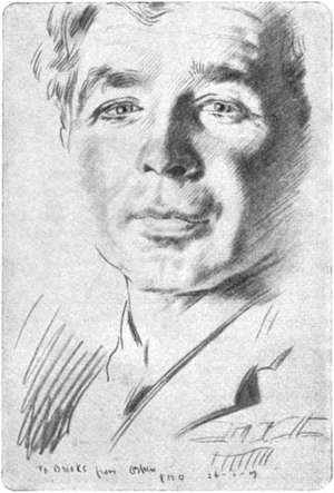 Ernest Brooks (photographer) - A sketch of Brooks made in France, 1917 or 1919, by the artist William Orpen.