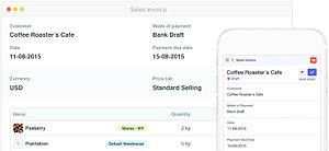 ERPNext - Screenshot of ERPNext, showing responsiveness of its interface