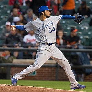 Ervin Santana - Santana pitching for the Kansas City Royals in 2013