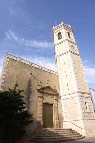 Teulada, Spain - Church of St. Catherine.