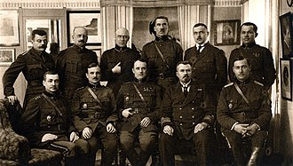 Johan Laidoner - Laidoner (front row, center) with senior commanders of the Estonian Armed Forces in 1920.