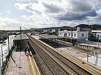 Estação Ferroviária de Carregado, plataformas. 11-19.jpg