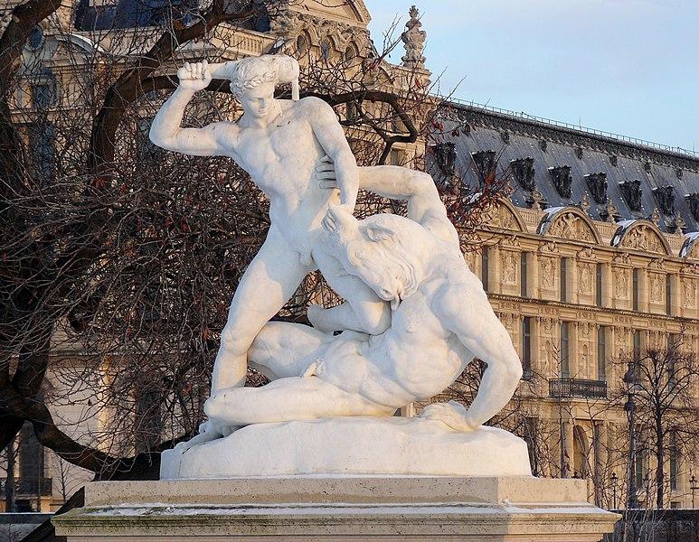 Fichier:Etienne-Jules Ramey Thésée et le Minotaure Tuileries Paris.jpg