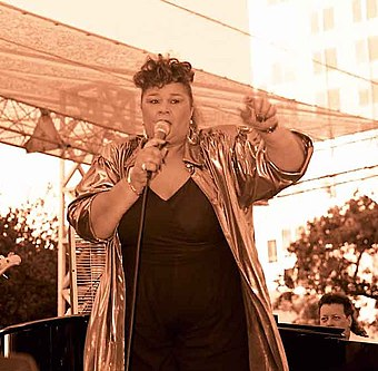 As a teenager Adele would listen to Etta James (pictured) while developing and practising her vocal skills Etta James 2006.jpg