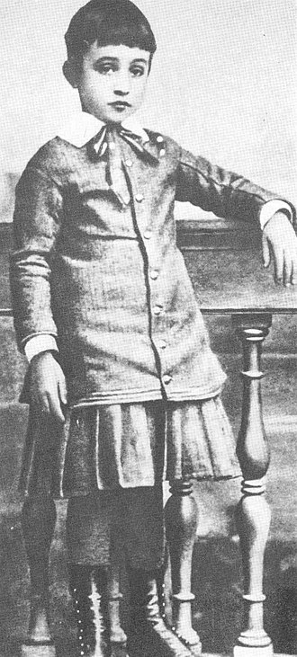 Pope Pius XII - Eugenio Pacelli at the age of six in 1882