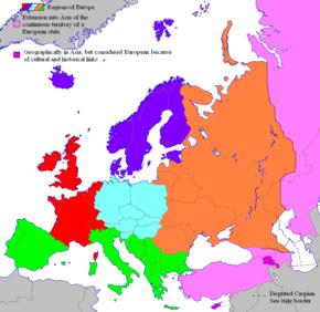 Cartina Geografica Europa Ovest.Europa Wikipedia