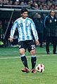 Ever Banega – Portugal vs. Argentina, 9th February 2011 (1).jpg
