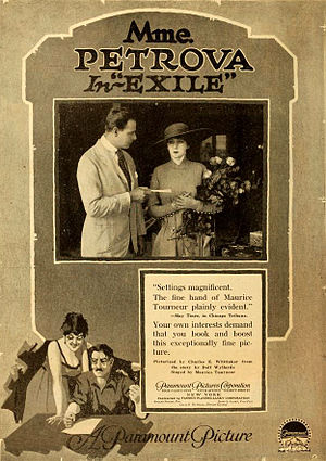 Exile (1917 film) - Advertisement for film