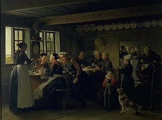 Interior with peasants from the region of Amager