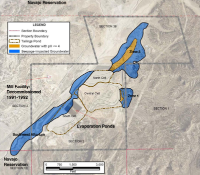 Church Rock Uranium Mill Spill Wikipedia - Were is the us's nuclear uranium mined map