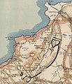 """Extrait de la """"Carte de la province du Liban, publiée sous le patronage de la Société orientale de Münich"""" montrant le village de Kalmoun.jpg"""