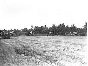 Nanumea Airfield - F4Fs of VMF-441 at Nanumea, 19 September 1943