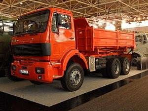 Fabrika automobila Priboj - FAP 2640 dump rigid truck three-axle at exhibition IAA 2012 in Hanover, Germany.