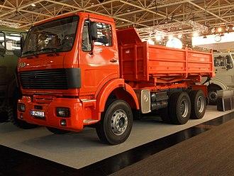 Automotive industry in Serbia - FAP 2640 dump rigid truck three-axle