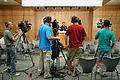 FEMA - 35763 - News Cameramen lined up at a FEMA press conference in Iowa.jpg