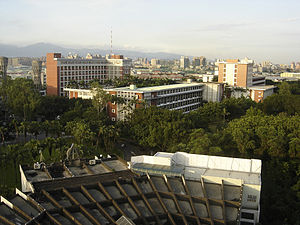Fu Jen Catholic University - Bird-eye's view of northeast-part of campus