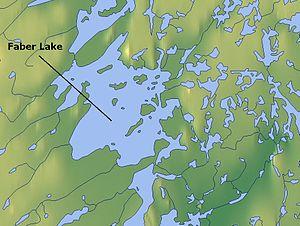 Карта озера фейбер