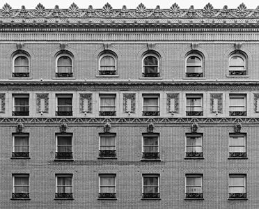 Facade of the Palace Hotel, a designated San Francisco landmark