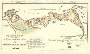 Battle of Alexandria - The map of the British plan for the battle.