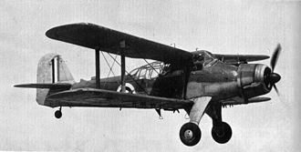 Fairey Albacore - Albacore in flight. The markings place it around 1940.