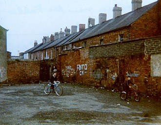 Falls Road, Belfast - Children playing near Falls Road, Belfast, 1981