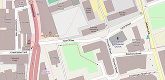 Fann Street - The immediate vicinity of Fann Street
