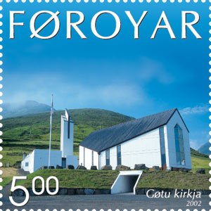 Faroe stamp 425 church of gota