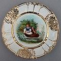 """Ferdinand Theodor Hildebrandt (1804-1874) """"Warnung vor der Wassernixe"""", Porzellanmalerei, Zierteller, D0736-1.jpg"""