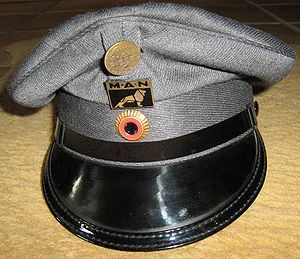 Trucker hat - Mechanic's cap, used by truckers in Germany and America before 1980.