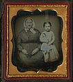 "Feroline ""Fairy"" Fox holding a doll, with an unidentified woman, ca. 1850. (21640557251).jpg"