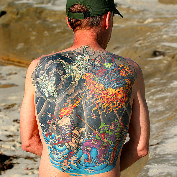 Ficheiro:Fire and water back tattoo.jpg