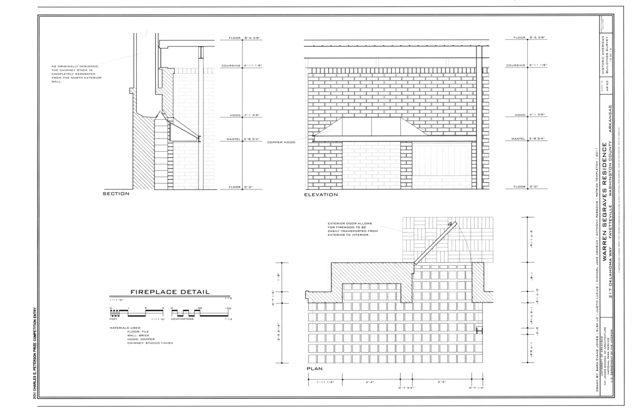 Elevation Plan Wiki : File fireplace details section elevation and plan
