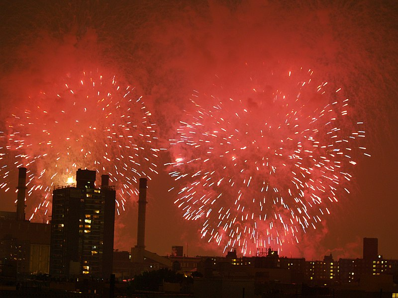File:Fireworks over the East Village of New York City.JPG