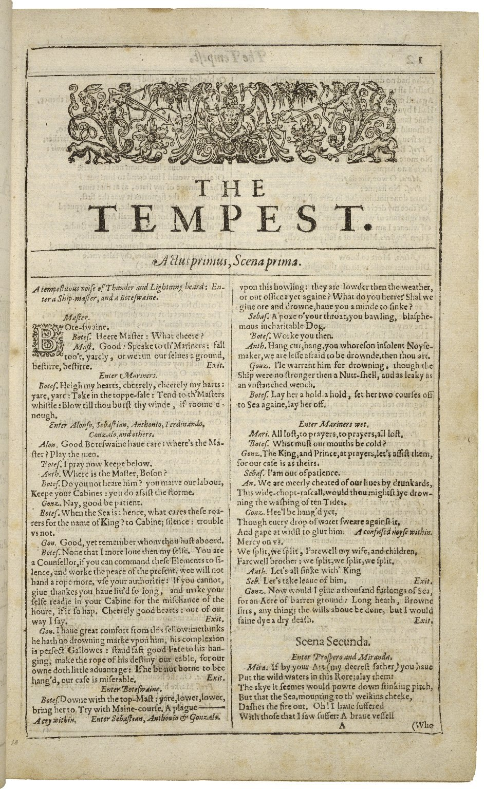 First-page-first-folio-tempest