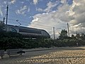 First Generation Acela Power Car 2004 at Rocky Neck State Park August 2021.jpg