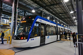 Grand River Transit - The first light-rail vehicle on public display in April 2017
