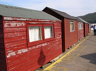 Bonne Nuit (Jersey) - Harbourside huts are used by fishermen