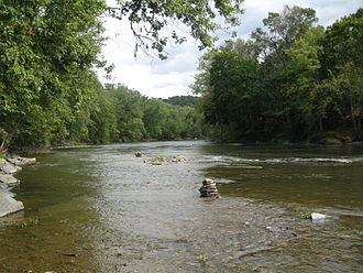 Fishing Creek (North Branch Susquehanna River tributary) - Fishing Creek near the Rupert Covered Bridge No. 56 between Montour Township and Bloomsburg