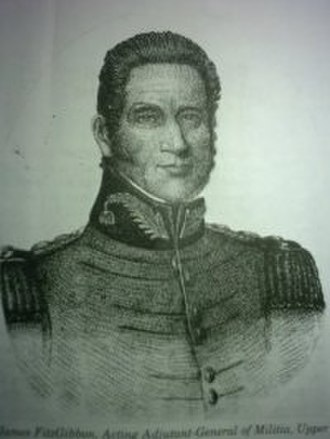 Battle of Beaver Dams - Lt. James FitzGibbon led 46 regulars of the 49th Regiment of Foot during the battle.