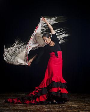 Women in dance - Flamenco dancer