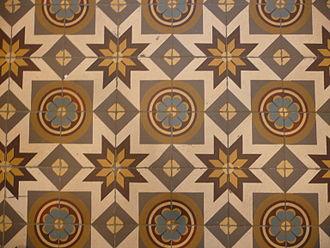 Cement tile - Cement tiles, end of 19th century