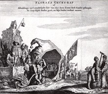 "Copper engraving ""Florae's Gecks-kap"""