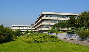 Comenius University - Building of the Faculty of Mathematics, Physics and Informatics, located in western part of Bratislava
