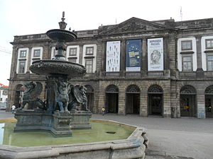 University of Porto - The main façade (north) of the University's rectory.