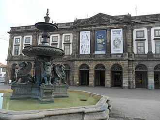 University of Porto - The main façade (north) of the University's rectory.