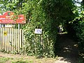 Footpath beside Wingham Primary school - geograph.org.uk - 455583.jpg