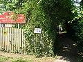 Footpath beside Wingham Primary school - geograph.org.uk - 455583.jpg