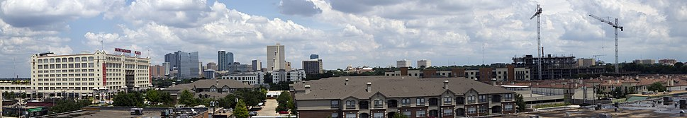 2010 panorama of Fort Worth