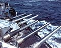 Forward guns of USS Alabama (BB-60) c1942.jpg