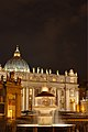 Fountain of Carlo Fontana on Piazza San Pietro at night.jpg